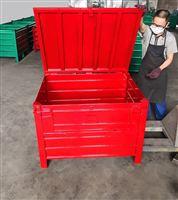 帶蓋加厚周轉箱特大號儲物收納膠箱工業貨筐