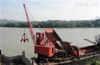 抓斗式挖泥船 吊船